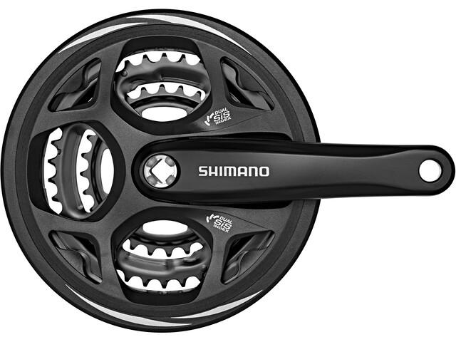 Shimano Altus FC-M311 Kranksett 48/38/28 Svart